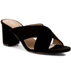 Șlapi SAGAN - 2917 Czarny Welur Heeled Mules, Shoes, Fashion, Moda, Zapatos, Shoes Outlet, Fashion Styles, Shoe, Footwear