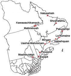 Innu communities of Quebec and Labrador and the two Naskapi communities (Kawawachikamach and Natuashish) Lac Saint Jean, Aboriginal People, Canadian History, Newfoundland And Labrador, Mean People, French Words, Pictures Of People, The Province, Historical Maps