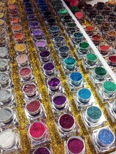 Lit Cosmetics. Nothing but glitter! The color selection is HUGE!