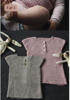 Strikket undertrøje Knitting For Kids, Baby Knitting Patterns, Free Knitting, Crochet Baby, Knit Crochet, Crochet Pattern, Baby Barn, Crochet Slippers, Baby Booties