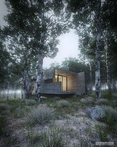 """Making of House in the Forest"" - 3D Architectural Visualization  Rendering Blog"