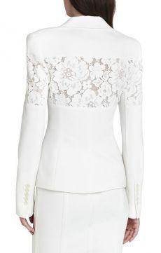 Dress Lace Beige 35 New Ideas Lace Blazer, Lace Jacket, Coat Dress, Lace Dress, Kleidung Design, Blazer Fashion, Dress Suits, White Fashion, Classy Outfits