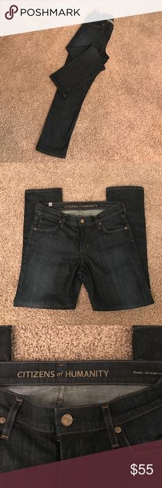 Citizens of Humanity Phoebe Slim Straight Crop size 26. Brand new. Never worn. Slim pencil fitting denim Crop in a dark denim. Citizens of Humanity Jeans Ankle & Cropped