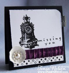 @Tenia Nelson Jazzy Paper Designs: an incredible #wedding inspired card featuring #Stampendous Time Flies Set