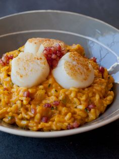 Pumpkin Risotto with Seared Scallops | Spoon Fork Bacon Love making pumpkin pasta and risotto with some parm or goat cheese