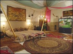 Decorating theme bedrooms - Maries Manor: exotic global style decorating