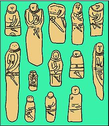 Collection of drawings of Scythian stelae, ranging from c. 600 BC to AD 300.