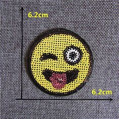 FairyTeller 2016 New Different Kind Smiling Face Patch Hot Melt Adhesive Applique Embroidery Patch Diy Clothing Accessory Patch ** Click image for more details.