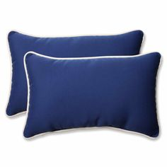 Americana Blue Rectangular Throw Pillow (Set of 2)