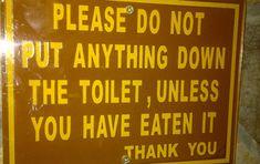 Bathroom Humor: funny toilet sign