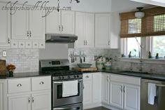 Beautiful White Farmhouse Kitchen DIY Makeover - #white #kitchen #diy @DIY Show Off