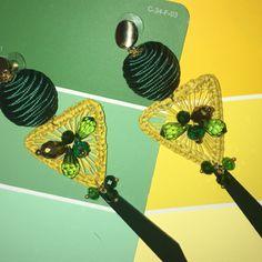 Earings iraca Palm Iris, Earrings, Jewelry, Necklaces, Jewels, Bijoux, Ear Rings, Irise, Stud Earrings