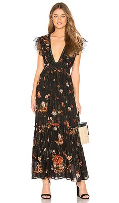 d9cb4d43d9be Wildflowers Embroidered Maxi Dress in 2019 | Dresses | Dresses, Formal  dresses for women, Maxi wrap dress