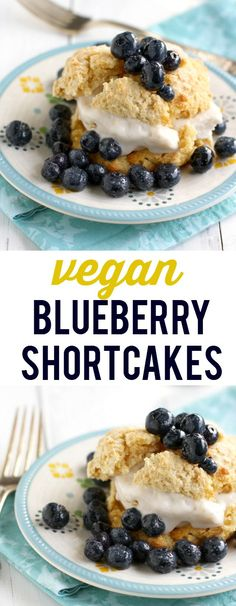 These blueberry shortcakes just scream summertime! Simple and fresh, an easy dessert.