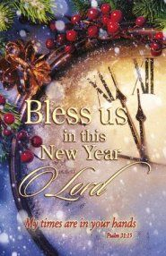 Church Bulletin - New Year - Bless Us (Pack of