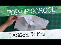 Pop-Up School with Matthew Reinhart: Lesson F-G Matthew Reinhart, School G, Diy And Crafts, Paper Crafts, Pop Up Art, Paper Engineering, Up Book, School Lessons, Paper Toys