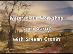 Loch Garry Watercolour Landscape Painting Demonstration