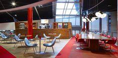 Chassé Theatre Breda - Public areas Breda, October 2015. Concept development and interior design of various public areas within the Chassé Theatre in Breda.