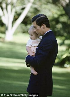 1983 William is safe in Charles's arms on a trip to New Zealand