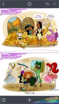 Disney Pixar, Disney Au, Cute Disney, Disney And Dreamworks, Disney Magic, Disney Stuff, Pocket Princesses, Pocket Princess Comics, Disney Princesses