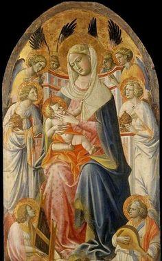 Giovanni dal Ponte - Madonna col Bambino e angeli - 1425 ca. - Fitzwilliam Museum, Cambridge, MA, Stati Uniti d'America
