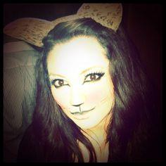 Halloween make up #Custome #Cat