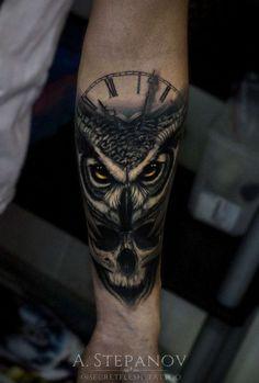 owl watch skull