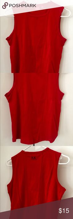Anne Klein sleeveless tank top size medium Red tank top with log on the back ➡️Price is firm Anne Klein Tops Tank Tops