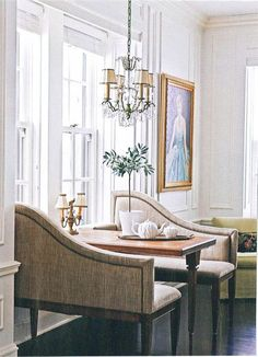 Wonderful Elegant Dining Room Design Ideas 34 image is part of 90 Wonderful Elegant Dining Room Design and Decorations Ideas gallery, you can read and see another amazing image 90 Wonderful Elegant Dining Room Design and Decorations Ideas on website Dining Nook, Dining Room Design, Elegant Dining Room, Banquette Seating, Traditional House, Traditional Kitchens, Living Spaces, Living Rooms, New Homes