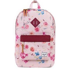 Herschel Floral Print Heritage Backpack Used it for a month. Really nice quality. The bag is still in great condition. It can fit lots of books and 13 inches MacBook Air Herschel Supply Company Bags Backpacks