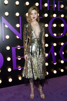 Bella Heathcote wore an #AlexanderMcQueen Pre-Fall 2016 gold sequined dress to #TheNeonDemon LA premiere. The Fashion Court (@TheFashionCourt) | Twitter