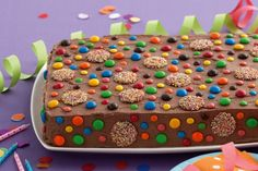 Keep this handy chocolate slab cake in the freezer and party cakes will be a breeze!