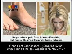 \n        Good Feet Greensboro - Foot Pain, Back Pain, Heel Pain and Plantar Fasciitis Pain Relief System\n      - YouTube\n
