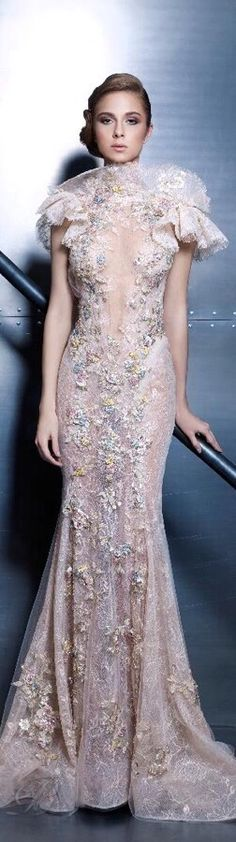 2016 New York AmFAR Gala T. Ziad Nakad Haute Couture 2015 ❤
