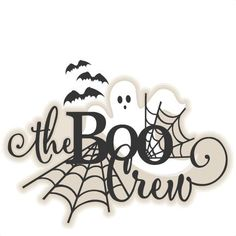 Daily Freebie Halloween Title The Boo Crew: Miss Kate Cuttables-- SVG scrapbook cut file cute clipart files for silhouette cricut pazzles free svgs free svg cuts cute cut files Halloween Vinyl, Halloween Scrapbook, Halloween Clipart, Halloween Signs, Halloween Projects, Holidays Halloween, Happy Halloween, Halloween Decorations, Halloween Plates