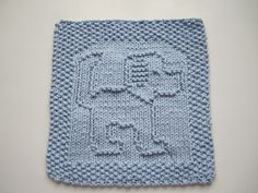Tail Wagging Cloth by cloverlaine - free Ravelry download