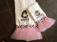 Tutu decorative bath towels perfect for the by SewMeTheMoney, $24.99