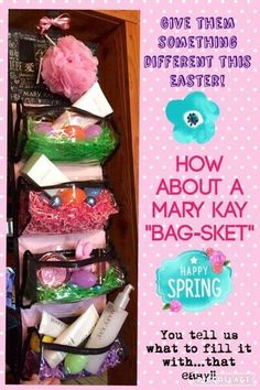 "Easter is around the corner. Switch out the usual basket for a ""Bag-sket"""