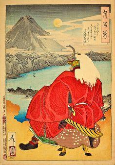 Ukiyo-e Takeda Shingen at Kiyomi
