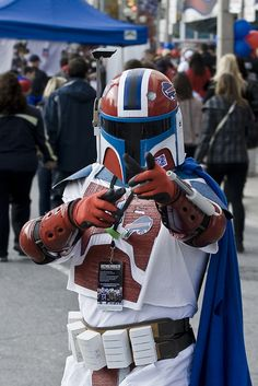 Boba's lesser-known, Bills-obsessed sibling?    Seen at the National Football League's Bills Toronto Series.     Need a Big and Tall person Chair?  read more...