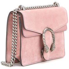 Gucci Dionysus Mini Suede Shoulder Bag (4.978.620 COP) ❤ liked on Polyvore featuring bags, handbags, shoulder bags, mini purses, suede purse, pink purse, miniature purse and gucci shoulder handbags