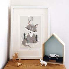 Affiche A4 les Animignons le loup (personnalisable)