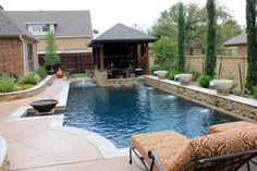 Dry Stack - Custom Swimming Pool - North Richland Hills, TX - traditional - pool - dallas - One Specialty, Concrete, Xteriors, & Pools, LLC
