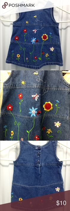 Baby Togs Dress Adorable Embroidered Denim Dress by Baby Togs - 3-6 mo - 100 % cotton Baby Togs Dresses Casual