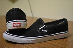 1c134e09f1 (SOLD) Vans Slip On Mens Shoes Size US 12   UK 11   EUR46 Black USED Near  New Condition