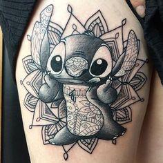 henna tattoo kit - A stitch tattoo Imágenes efectivas que le proporcionamos sobre diy clothes Una imagen de alta calid - Mandala Arm Tattoo, Henna Tattoo Kit, Tattoo Kits, Henna Tattoos, Body Art Tattoos, Disney Mandala Tattoo, Henna Kit, Tattoo Ideas, Tatoos