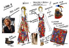Diferentes prendas para un estampado floral de inspiración rústica rusa.