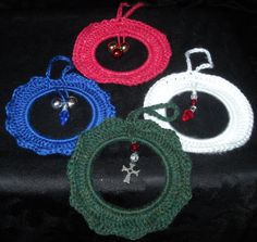 Handmade Crocheted Christmas Ornaments