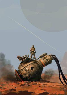 spassundspiele: Moon 33 sci-fi concept by Denis Melnychenko IF you lik., - spassundspiele: Moon 33 sci-fi concept by Denis Melnychenko IF you lik. - spassundspiele: Moon 33 sci-fi concept by De. Arte Sci Fi, Sci Fi Art, Fantasy Landscape, Sci Fi Fantasy, Digital Art Illustration, Art Pulp, New Retro Wave, Futuristic Art, Environment Concept Art