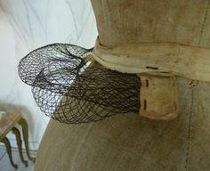 antique woven wire bustle 1880
